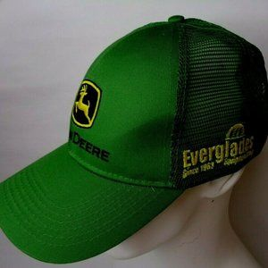 John Deere Tractor Everglades Florida Logo Hat Cap